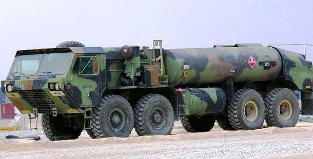 HEMTT là loại xe tải 8 bánh chạy bằng động cơ diesel và có thể chạy trên mọi địa hình, được sử dụng trong quân đội Mỹ