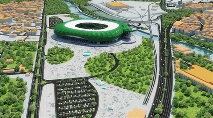 Với kiến trúc mô phỏng hình một chú cá sấu xanh - biệt danh của đội bóng - đây là sân có kiến trúc độc đáo bậc nhất châu Âu