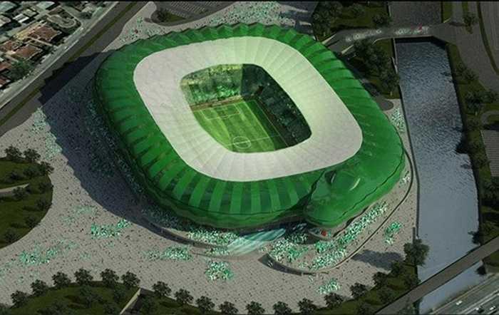 Hình chiếu phối cảnh của sân Timsah Arena