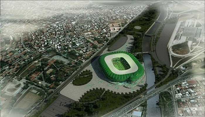 Sân Timsah Arena nhìn từ trên cao