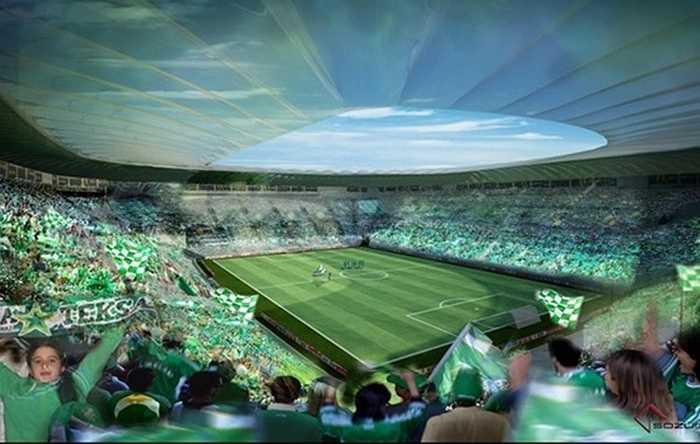Phối cảnh bên trong sân vận động