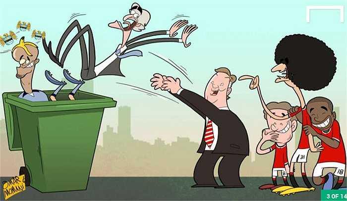 Thầy trò Van Gaal kết liễu tham vọng của Man City ở Ngoại hạng Anh