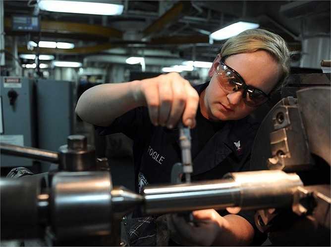 Thợ kỹ thuật hệ thống điện tử: Thu nhập trung bình: 26,92 USD/giờ, tăng trưởng việc làm: 6%. Mô tả công việc: Lắp đặt, kiểm tra, điều chỉnh, sửa chữa hệ thống điện tử, thiết bị điện tử như radar, đài phát thanh, máy định vị và hệ thống điều khiển tên lửa.
