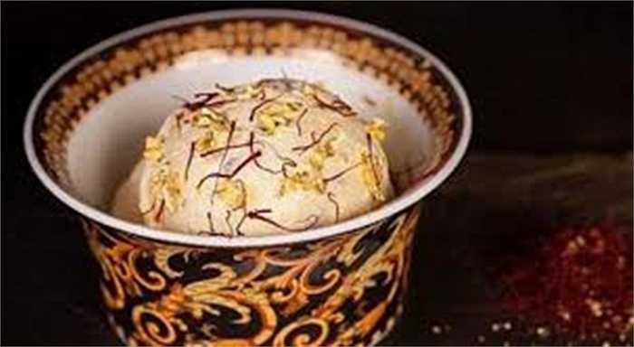 Thành phần kem làm từ các nguyên liệu đắt tiền như vani Madagascar, nghệ tây Iran, nấm cục truffle và rắc vàng 23 carat