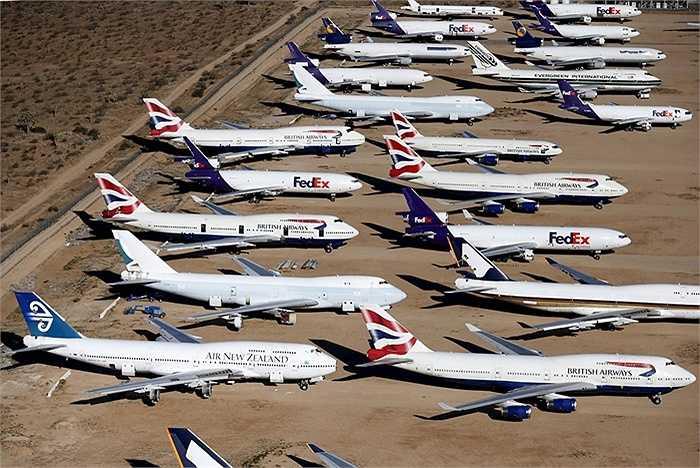 Những máy bay hết hạn sử dụng của các hãng hàng không trên thế giới tập trung ở đây
