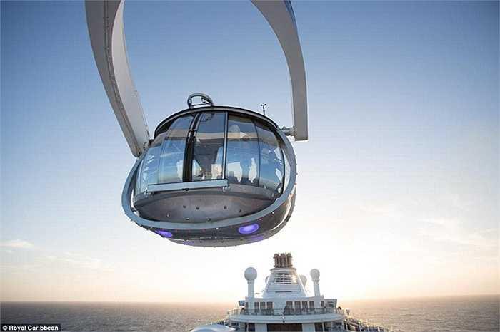 Hay lên North Star (khoang buồng hình viên đá làm bằng kính) có thể chứa được 13 người và lên cao 100 m so với mực nước biển, giúp cho du khách ngắm cảnh mà không gặp bất cứ vật cản trở nào