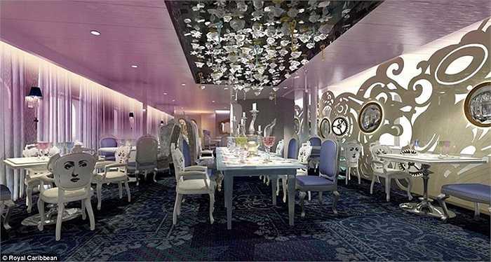 Nhà hàng ma thuật Wonderland mang phong cách Royal Caribbean sẽ phục vụ những món ăn cực kỳ độc đáo với chủ đề 'bữa tiệc cho các giác quan'