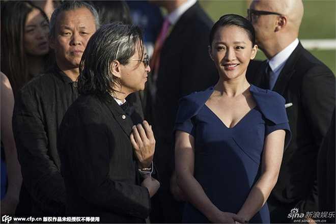 Châu Tấn bên cạnh đạo diễn Trần Khả Tân. Năm nay, nữ diễn viên xinh đẹp là một trong những giám khảo của liên hoan phim.