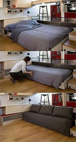 Giường ngủ có thể đẩy lên trần