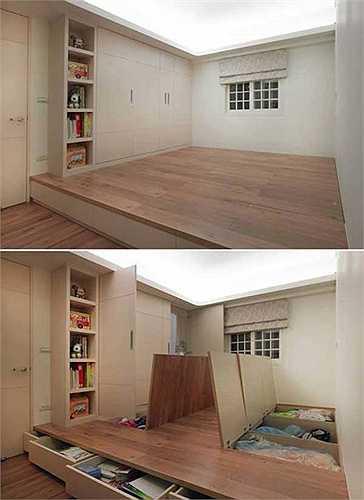 Sàn nhà lưu trữ đồ đạc