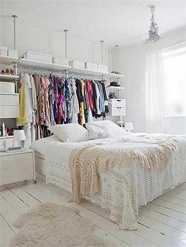 Giá treo quần áo để đầu giường