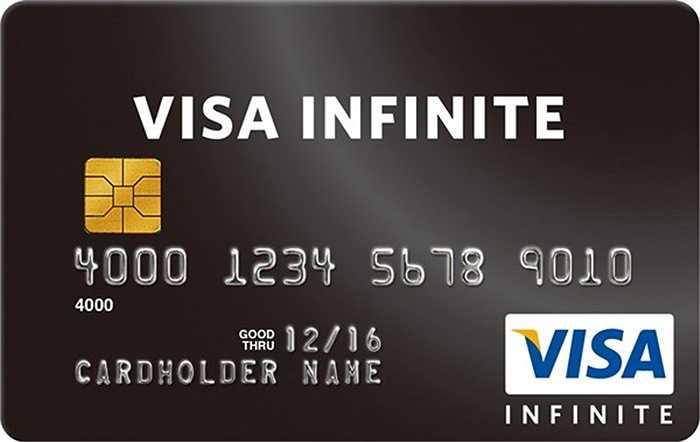 Với Visa Infinite Card, bạn có thể rút 15.000 đô la Mỹ mỗi ngày từ bất cừ máy ATM nào trên thế giới. Và nếu bạn đến văn phòng đại diện, bạn có thể mang về nửa triệu đô la Mỹ. Chỉ cần thu nhập 100.000 USD mỗi năm là bạn có thể trở thành chủ thẻ.