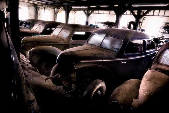 Bãi xe thải ở Đức. Một số xe cũ tại những nghĩa địa ôtô có thể được định giá đến hơn 120.000 USD nếu người ta phục chế nó.