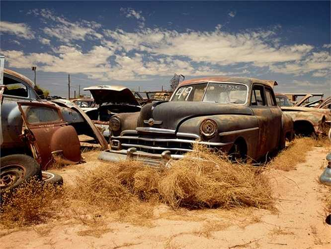Bãi xe cũ ở vùng sa mạc Arizona, Mỹ.
