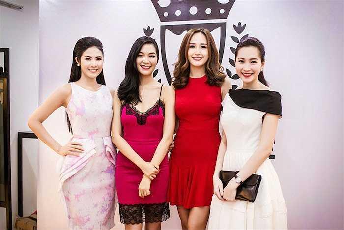 Mai Phương Thuý cũng đến để hội ngộ cùng dàn Hoa hậu.