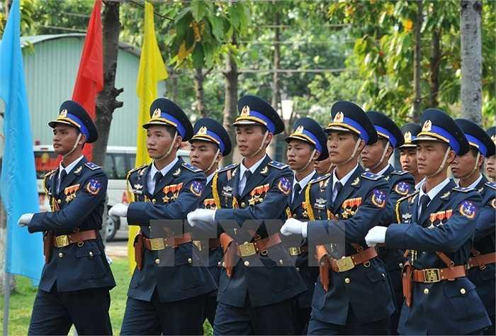 Lực lượng bộ đội Phòng không - Không quân tham gia buổi hợp luyện. (Ảnh: Trọng Đức/TTXVN)