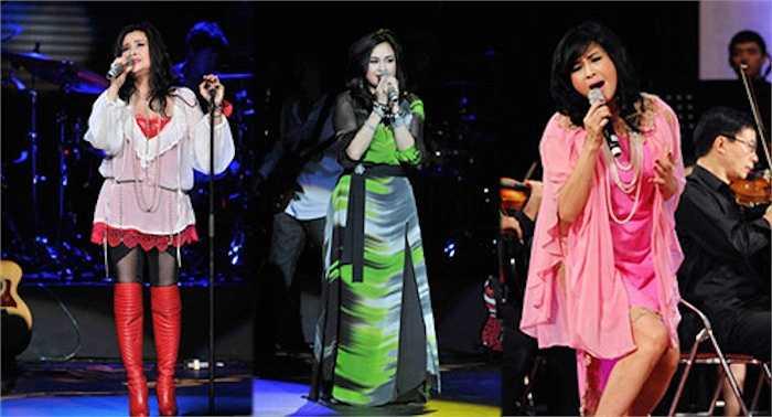Không khéo léo như Giáng Mi, nữ ca sỹ thường chọn những trang phục khiến người xem 'tức mắt' vì độ màu mè, lòe loẹt.