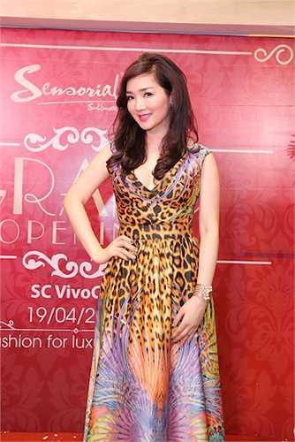 Tối 19/04 vừa qua, Hoa hậu Đền Hùng Giáng My đã đến tham dự buổi lễ ra mắt một thương hiệu thời trang tại TP.HCM.