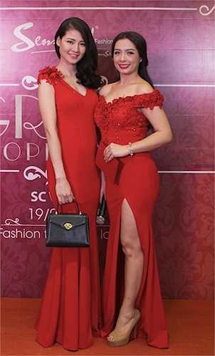 Cựu người mẫu Thuý Hằng cũng xuất hiện trong sự kiện.