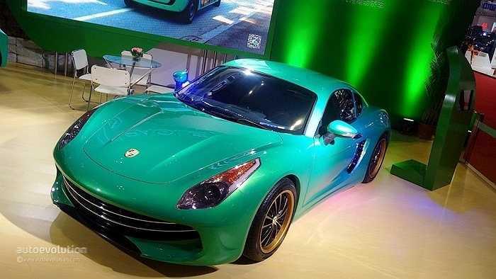 Mẫu xe điện kiểu dáng thể thao này là sản phẩm nhái của hãng Suzhou Eagle.