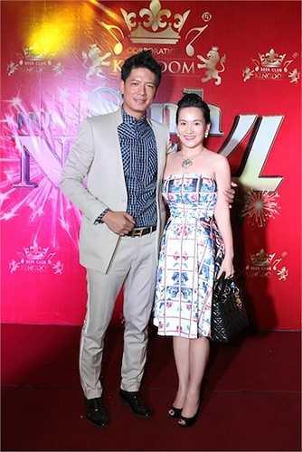 Xuất hiện tại buổi tiệc mừng sinh nhật một hệ thống kinh doanh với vai trò cổ phần đầu tư kiêm đại diện hình ảnh được tổ chức vào tối qua, vợ chồng MC Bình Minh ngay lập tức thu hút sự chú ý.
