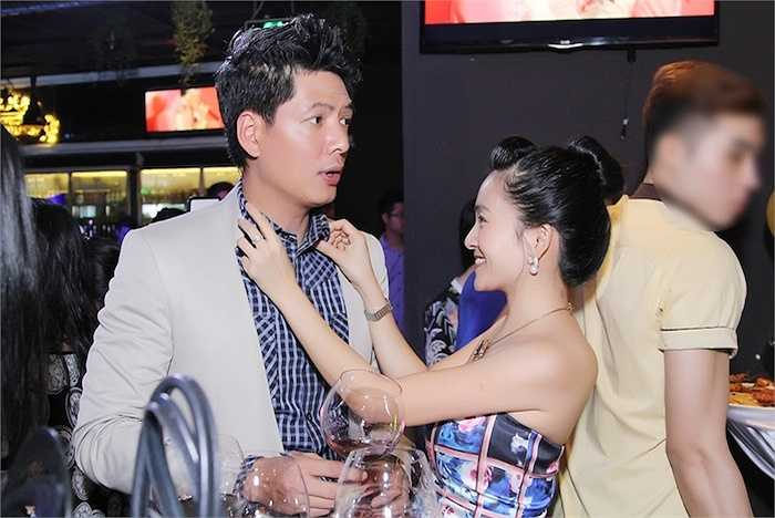 MC Bình Minh được vợ 'tút tát' kỹ lưỡng trong sự kiện.