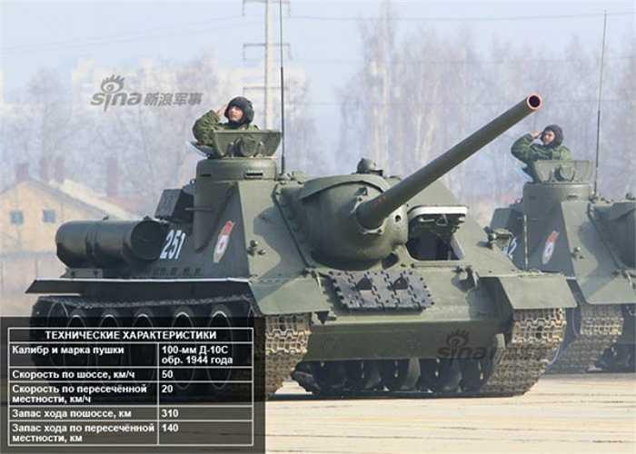 Pháo tự hành chống tăng Su-100.