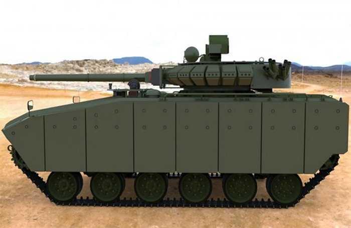 Xe chiến đấu bộ binh Kurganets-25 được trang bị vũ khí gồm 1 pháo tự động 30mm loại 2A42, súng máy PKTM được bố trí ở phía bên trái khẩu pháo, 2 quả tên lửa chống tăng dẫn đường bằng laser 9M133 Kornet-E, được bố trí ở hai sườn của tháp pháo.