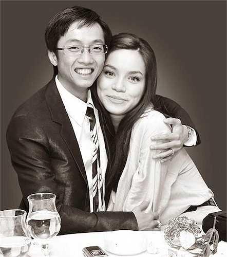 Một trong những tấm hình kỷ niệm đầy tình cảm giữa Hà Hồ và Cường Đôla.