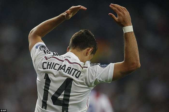 Chicharito là cầu thủ có nhiều cơ hội rõ ràng nhất trong trận đấu mà anh thay Benzema.