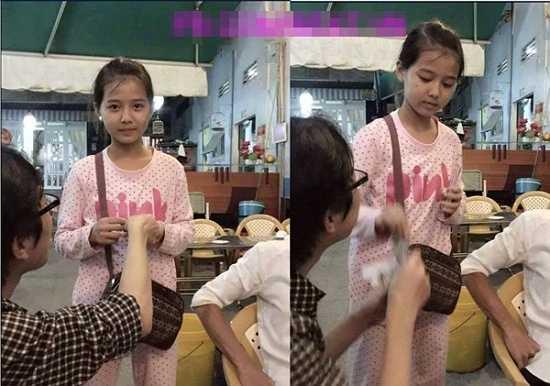 Bức ảnh ghi lại những khoảnh khắc đáng yêu của một bé gái bán vé số xinh xắn, da trắng và đôi mắt biết nói nhanh chóng nhận được sự quan tâm, chia sẻ trên mạng xã hội.