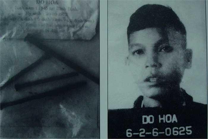 Đồng chí Đỗ Hòa (Bình Định) bị đóng đinh vào hộp sọ, hy sinh ngày 20/10/1972.