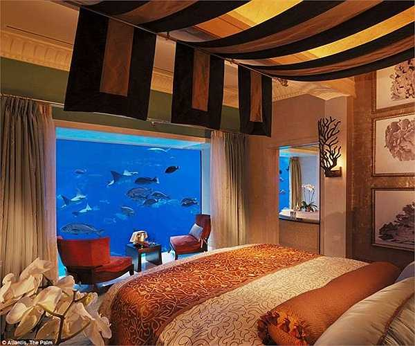 View phòng ngủ đẹp với khung cảnh đại duơng ấn tượng bên ngoài