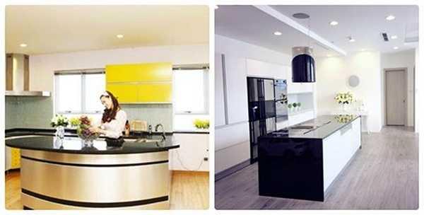 Nếu như căn hộ cũ chọn tông màu vàng cho các vật dụng, đồ trang trí thì không gian sống mới của cô sử dụng tông màu trắng chủ đạo, màu sắc nhẹ nhàng, trang nhã.