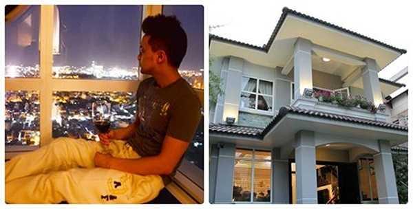 Trước khi chuyển về căn biệt thự mới ở quận 7, TP HCM (ảnh phải), ca sĩ Cao Thái Sơn từng ở một căn penthouses.