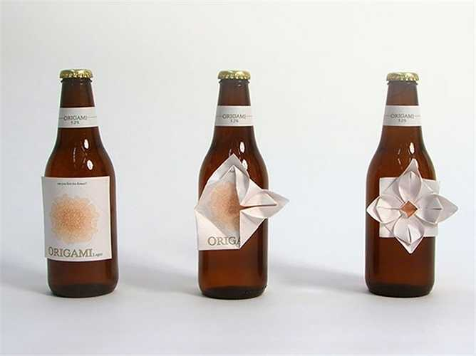 Mẫu chai này là đặc biệt hấp dẫn với những người yêu thích nghệ thuật xếp hình Origami.