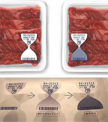 Những miếng thịt bò này được đóng gói kèm với tấm bìa chỉ độ tươi của sản phẩm, giúp người dùng chủ động hơn trong các lựa chọn của mình.