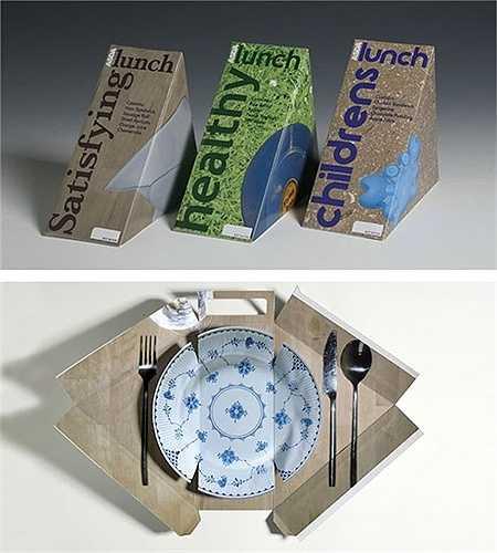 Bữa trưa của các bé sẽ trở nên thú vị hơn với chiếc đĩa giả được giấu khéo léo bên trong mẫu bao bì.