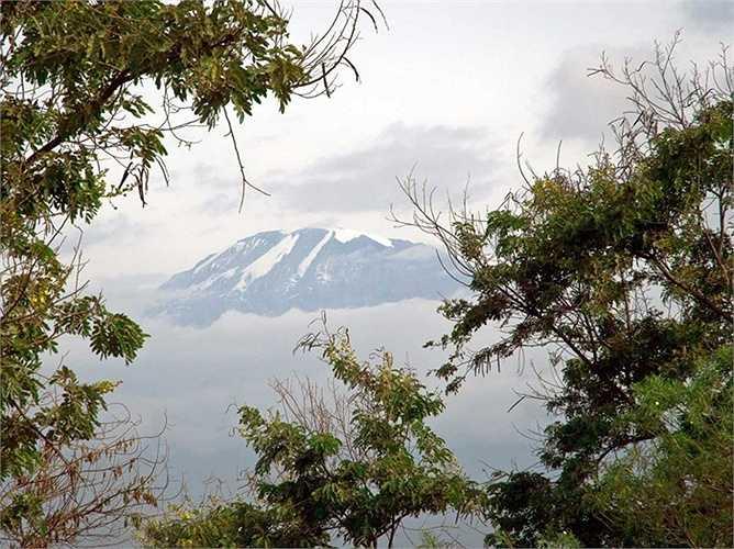 Tuyết đẹp như tranh vẽ phủ trên núi Kilimanjaro ở Tanzania có lẽ không còn tồn tại lâu. Từ những năm 1912 đến năm 2007, lượng tuyết trên núi Kilimanjaro đã bị hao đi tới 85%.