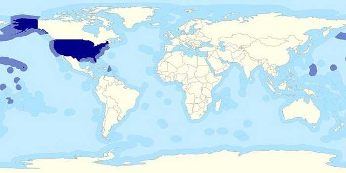 Bạn có biết rằng 50% lãnh thổ Hoa Kỳ nằm dưới đại dương.