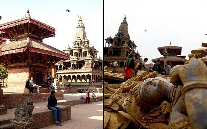 Nepal nổi tiếng với nhiều công trình được ghi nhận là di tích lịch sử, văn hóa thế giới đã bị trận động đất hủy diệt tàn phá