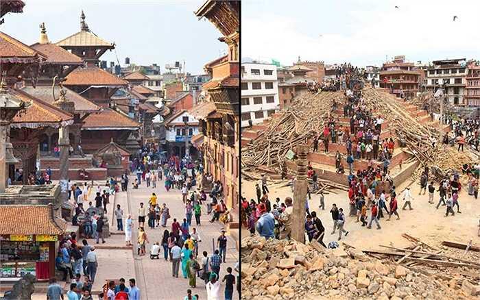 Đường phố Kathmandu bây giờ đầy những nhân viên cứu hộ đang cố tìm các nạn nhân trong đống đổ nát