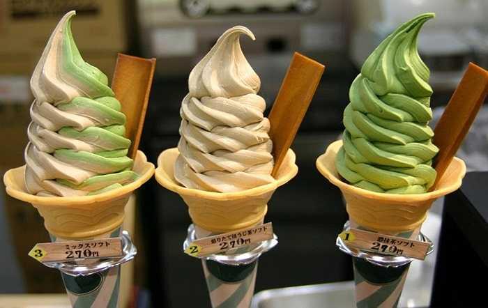 5. Những vị kỳ lạ. Hãy lấy món kem làm ví dụ, bạn có thể mua kem vị hầm, ngựa, cà ri, cá chình, sò, thịt gà, bia, cây xương rồng hay cua ở quốc gia nào khác trên thế giới?