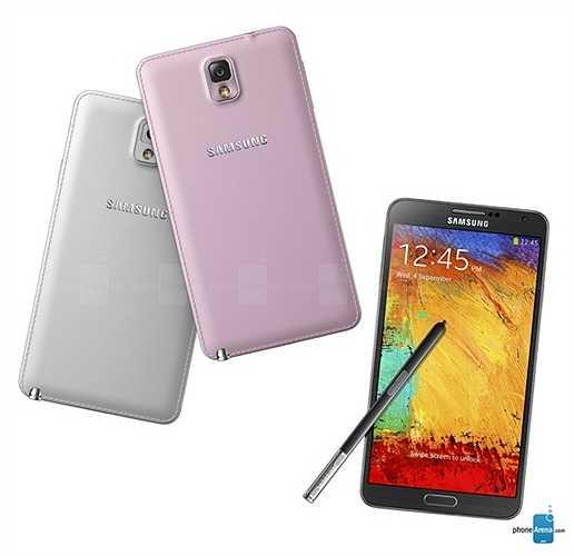 Samsung Galaxy Note 3: đây là chiếc điện thoại đầu tiên khởi nguồn cho mốt nắp lưng bọc da của khá nhiều hãng điện thoại khác, được Samsung cho ra mắt vào tháng 9/2013. Hiện tại Note 3 vẫn là chiếc điện thoại lớn nhất và cao cấp nhất có thiết kế độc đáo này.