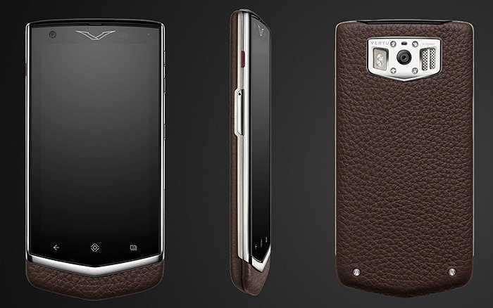 Vertu Constellation: mẫu smartphone xa xỉ này có giá tới 6.600 USD và nổi bật với thiết kế với nắp lưng da bò thật. Không chỉ bao phủ mặt sau mà nó còn tràn sang cạnh bên và một phần mặt trước nên trông rất sang trọng. Có 5 loại màu khác nhau gồm đen, nâu nhạt, nâu đậm, cam và cherry.