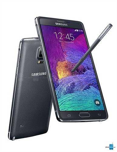 Samsung Galaxy Note 4: vẫn giữ mặt sau bọc da mềm như Note 3 và Note 3 Neo nhưng đã có sự kết hợp độc đáo với viền kim loại, tạo nên một bước đột phá mới trong thiết kế vỏ ngoài điện thoại của Samsung.