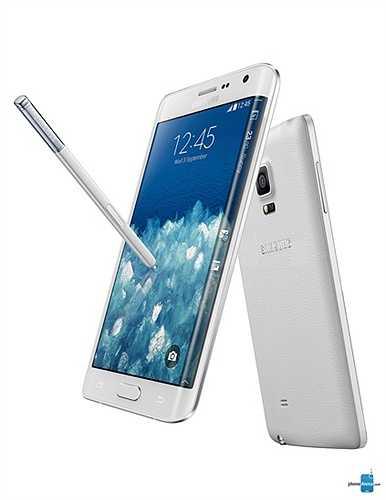 Samsung Galaxy Note Edge là phiên bản cong của Galaxy Note 4 và tất nhiên cũng có thiết kế nắp lưng bọc giả da và viền kim loại. Trông chiếc điện thoại khá 'chất' và cực bắt mắt.
