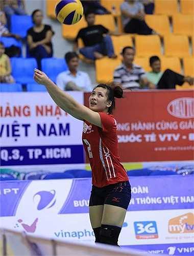 5 năm rèn luyện, Âu Hồng Nhung từ đội trẻ lên đội 1 và đã chinh chiến 3 mùa bóng trong màu áo Thông tin LienVietPostBank