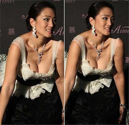 Mỹ nhân Hoa ngữ Củng Lợi 'nặng trĩu' với váy áo hở ngực.