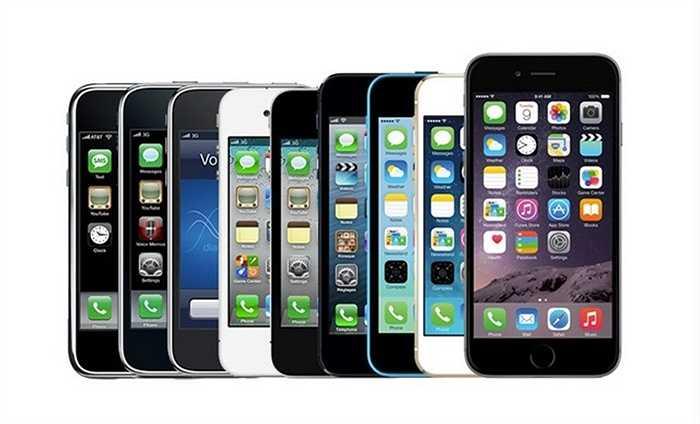iPhone là một trong những dòng điện thoại có sức tăng trưởng mạnh nhất thế giới. Trải qua 7 thế hệ, hiện nay, 'đứa con cưng' của Apple đang thống trị thị trường